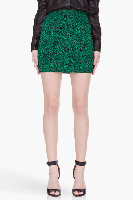 elle-15-elle-t-by-alexander-wang-marled-emerald-black-knit-skirt-xln-lgn