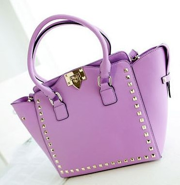 Studded Lilac shoulderbag