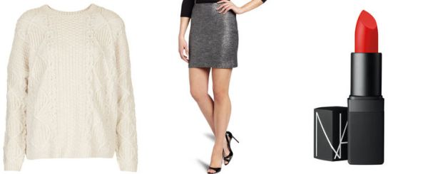 thanksgiving-metallic-miniskirt-outfit