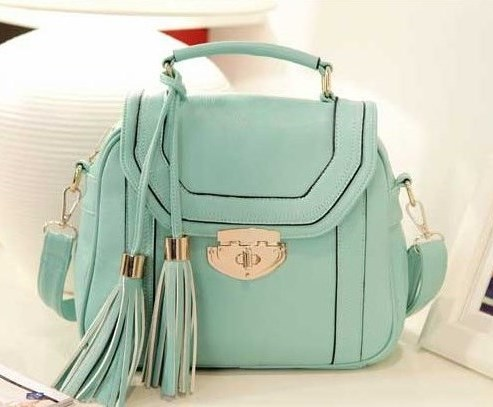 Mint Tassle Bag - Cropped