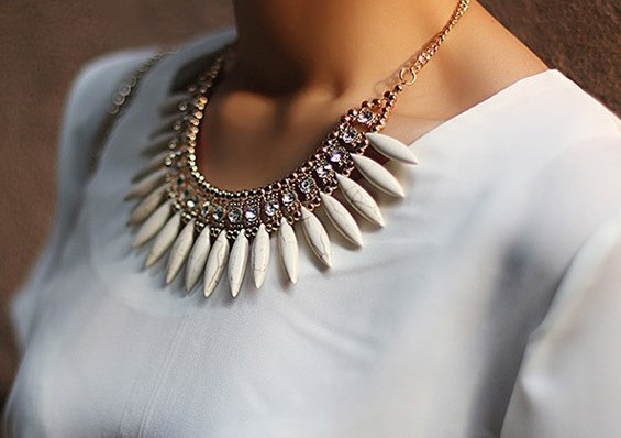 Rhinstone-and-Pendant-StatementNecklace - Cropped